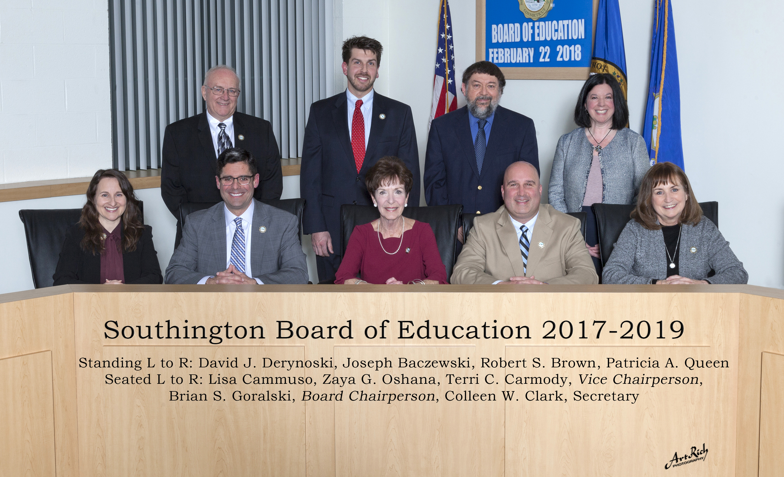 Board of Education members for 2017-2019