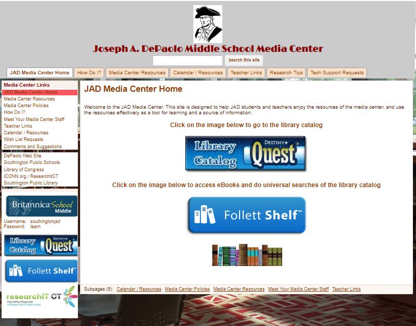 Library Media Center - Southington Public Schools